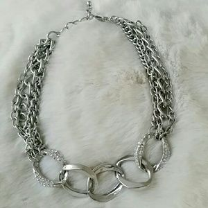 Nordstrom Statement Silver Collar Necklace